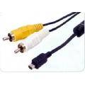 2627 CABO USB AM X 8 PINOS SLIN SONY + 2 RCA (AV) 1,80 MTS