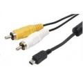 2629 CABO USB AM X B 12 PINOS OLYMPUS + 2 RCA ( AV )1,50 MTS