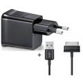 1060 CARREGADOR P/GALAXY TAB P-1000 C/CABO USB 30 PINOS DE 1MT