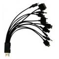 444 CABO USB 10 EM 1 COM CABO PARA IPHONE 5/ 20 CM