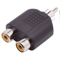 1604adap plug rca p/2 jack rca niquel