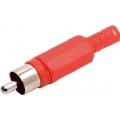 1645plug rca plastico vermelho