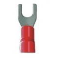 1475Terminal Forquilha Vermelho  para Cabo 8GA (5mm)
