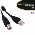 2595 Cabo USB A Macho X B Macho Versão 2.0 c/ filtro 3 Mts